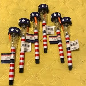 Other - 4th of July. Patriotic Solar Stake Solar Lights.6